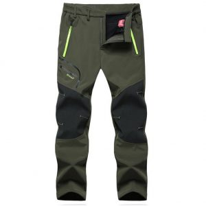 GITVIENAR Men's Wear-resisting Waterproof Windproof Fleece Softshell Skiing Hunting Pants