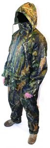 Waterproof camo rain suit 2 piece jacket trousers fishing hunting