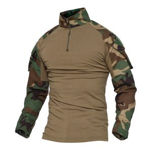 Magcomsen Men's Tactical Military Combat Slim Fit T Shirt Long Sleeve with Zipper