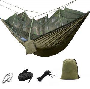 Suyi Portable Folding Double Parachute Camping Hammock