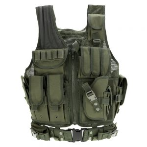 Lixada Mens Vest Military Tactical Army Polyester Waistcoat for Outdoor Camping