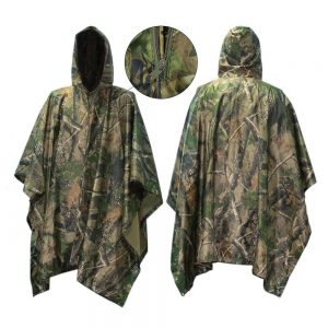 Waterproof Raincoat Poncho, Vaxiuja Hunting Camping Military