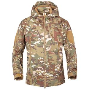 BELLOO Men Combat Jacket Waterproof Softshell Fleece Jacket