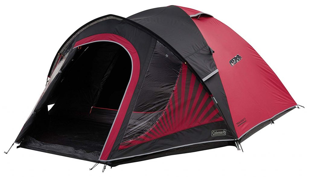 Wild camping coleman tent