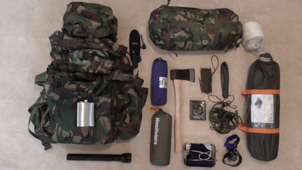 Bushcraft wild camping equipment