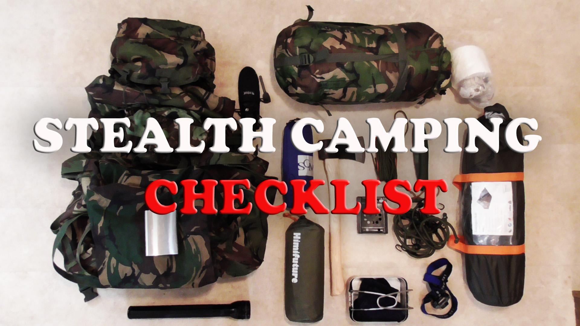 stealth camping checklist