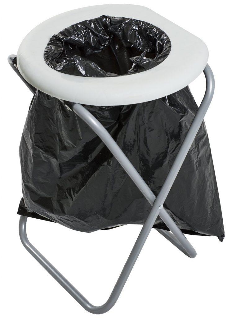 Folding camping toilet