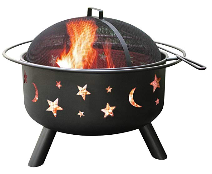 Sky stars camping fire pit