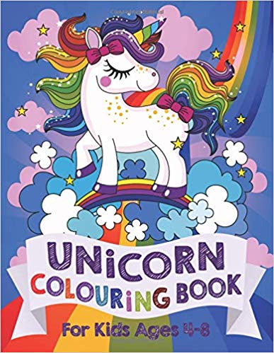 Unicorn colouring in book