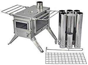 Wood burning wild camping stove