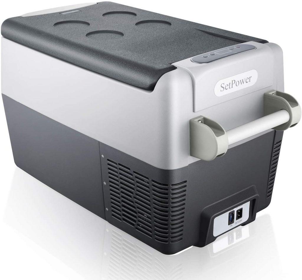 set power camping freezer