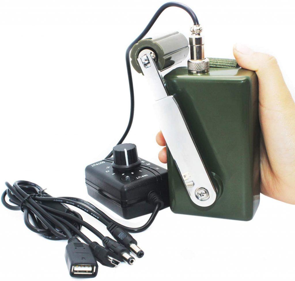 Hand crank survival generator